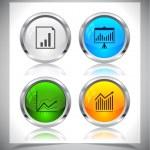 Metal web buttons. Vector eps10. — Stock Vector #26810487