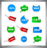 Collection Of Selling Badges and stickers — Stock Vector