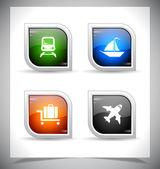 Plastic web buttons. Vector illustration. — Stock Vector