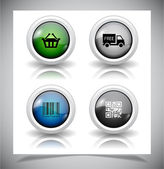 Abstract glass buttons. EPS10 file. — Stock Vector
