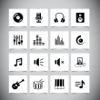 Music Icons — Stock Vector
