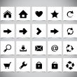 Stock Vector: Black icons for web