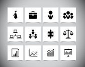 Set of business icons — Stock Vector