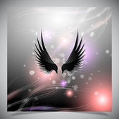 Abstract background with wings. — Stock Vector