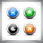 Metal web buttons. Vector eps10. — Stock Vector