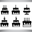 Set of Cake icons. — Stockvectorbeeld