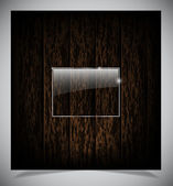 Abstract dark wood background — Stockvector
