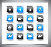 Set of color weather buttons. — Stockvector