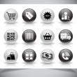 Shopping icons — Stockvektor