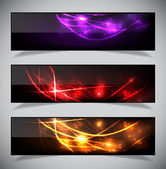 Bright abstract banners collection. — Stock Vector
