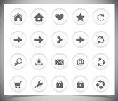 Noirs icônes pour le web — Vecteur