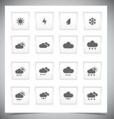 Set of grey weather buttons. — Stock Vector