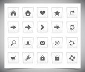 Web için beyaz düğmeler — Stok Vektör