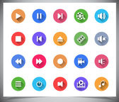 Set of flat color buttons. — Stock Vector