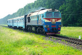 Diesel train — Stock Photo