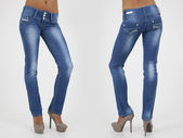 Pretty women in tight jeans — Stock Photo