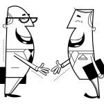Businessmen shaking hands — Stock Vector #12562897