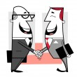 Businessmen shaking hands — Stock Vector