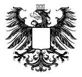 Heraldic style eagle isolated on white — Stock Vector