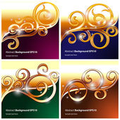 4 Abstract backgrounds — Stock Vector