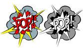 Estilo de arte popular de explosão dos desenhos animados — Vetorial Stock