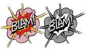 Dibujos animados explosión estilo pop-art — Vector de stock