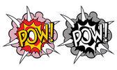 Stile pop art cartoon esplosione — Vettoriale Stock