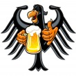 Eagle with beer — Stock Vector #20538517