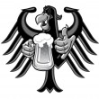 Eagle with beer — Stock Vector #20538533