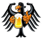 Eagle with beer — Stock Vector