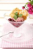 Ice Cream And Sweet Sundae — Stock Photo