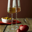 Stock Photo: Two glasses white wine