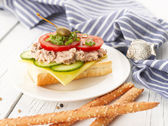 Tuna Fish Salad Sandwich — Stock Photo