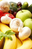 Colorful various fruits and vegetables — Stock Photo