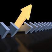 Leading luminous pointer — Stock Photo