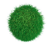 Sphere from green grass — Stock Photo