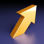 Bright arrow — Stock Photo