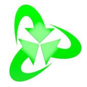 Three green arrows — Stock Photo