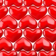 Stock Photo: Red hearts pattern