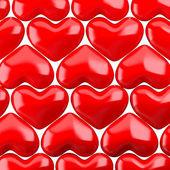 Röda hjärtan mönster — Stockfoto
