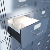Filing cabinet — Stock Photo