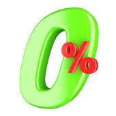 Zero per cento — Foto Stock