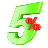 Five percent — Stock Photo