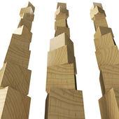 Children wooden blocks — Stock Photo
