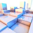 Reflecting cubes background — Stock Photo