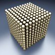 Energy cube from spheres — Stock Photo