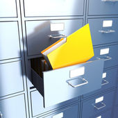 Folder in filing cabinet — Stock Photo