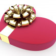 Gift in form heart with a ribbon — Stock Photo #19463431