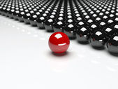 Unique red ball. Leadership — Stock Photo