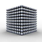 Cubo de bolas — Foto de Stock